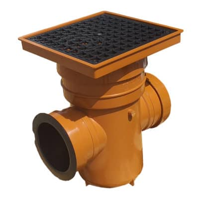 product picture of Underground sewer bottle gully large with removable trap and square lid