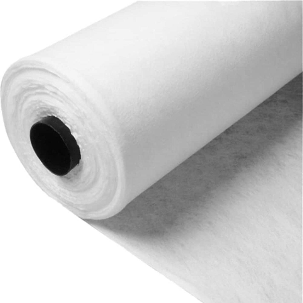 White Non-Woven 100 GSM Fleece Geo Textile Membrane Choose Your Size