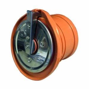 Flap-valve-rodent-barrier