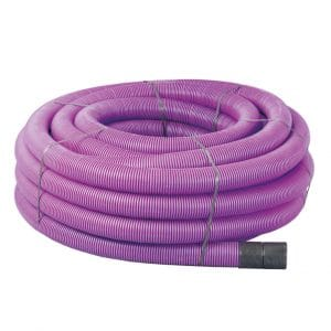 110/94mm Purple Twinwall Motorway Ducting x 50m Coil