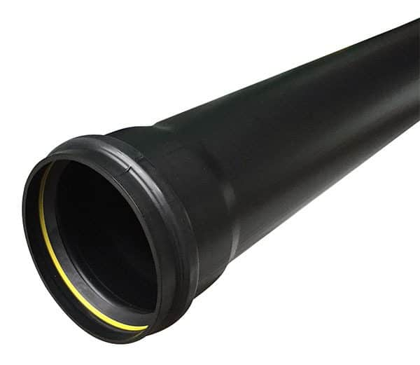 110mm Push Fit Pipe Single Socket x3/4m