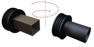 picture of how to fit a univesal rainwater adaptor rubber to rainwater downpipe