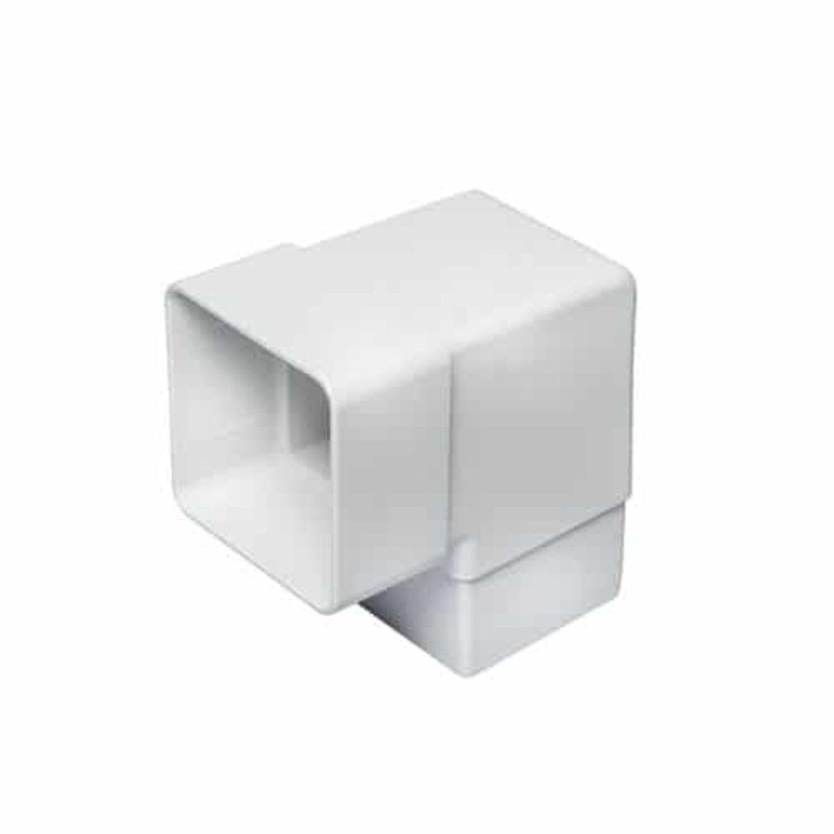 Square Line Gutter 114mm White Pack of 6