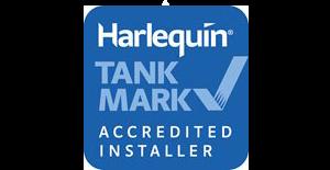 Harlequin oil tanks approved installer logo