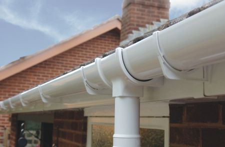 category picture of plastic rainwater products installed onto a house