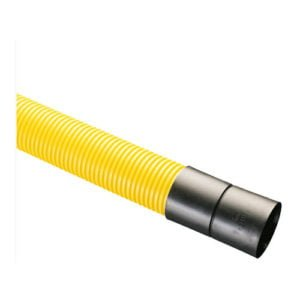 picture of yellow gas ducting twinwall hdpe 6m length