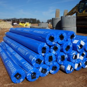 picture of terram t3000 300gsm rolls of geotextile membrane