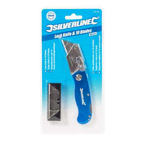product picture of Silverline 290192 Lock Knife with 10 Blades in box