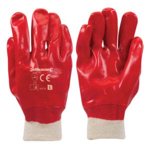 product picture of Silverline Red PVC Gloves