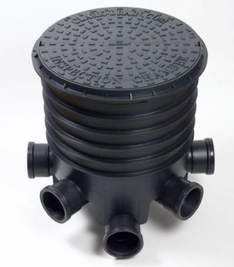 picture of manhole set up with lid on top